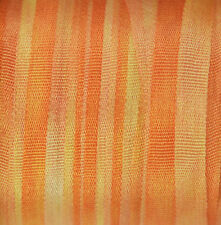 Silk Ribbon 4mm 100% Pure Embroidery Orange Hand Dyed Marigold - 3 mtr