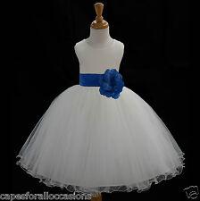 IVORY FLOWER GIRL DRESS PAGEANT T-LENGTH WEDDING BRIDAL 12m 18m 2 4 6 6X 8 10 12