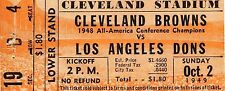 1949 Cleveland Browns Los Angeles Dons AAFC Ticket