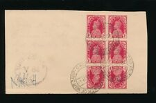 INDIA 1944 PoW CAMP GROUP 2...BLOCK of 6 with 2 TETE BECHE PAIRS CENSOR V84...L2