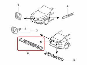 "[NEW] JDM Honda LEGEND KC2 Emblem Rear ""LEGEND"" Genuine OEM Acura RLX"