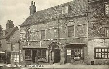 Postcard Lincoln Jew House and Bassett Hosiery Lincolnshire East Midlands UK