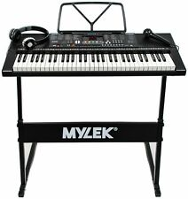 Mylek MY61KB 61 Keys Digital Electronic Keyboard - Black