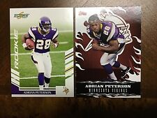 2007 Adrian Peterson Score Rookie Card #341 & 2007 Red Hot Rookies #3 of 15