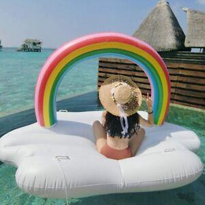 Mega Luftmatratze Rainbow XXL Schwimmliege Badeinsel Pool Wasserliege Kids Adult