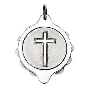 SOS Talisman Stainless Steel Medical Pendant - Christian Cross