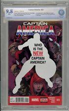 Captain America (2013) #25 CBCS 9.8 White Pages Blue Label 1st Sam Wilson As Cap