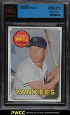 1969 Topps Mickey Mantle #500A BVG Auth
