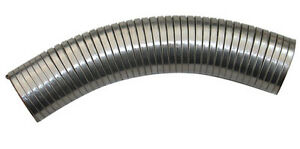 "5"" ID x 2 Foot Feet Long EXHAUST FlEX PIPE Steel Tubing Flexible Connector Tube"