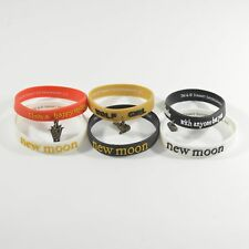 Lot of (3) Different Twilight New Moon Rubber Bracelets Packs