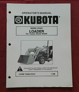 GENUINE KUBOTA B4200 TRACTOR B1620 LOADER OPERATORS & PARTS MANUAL