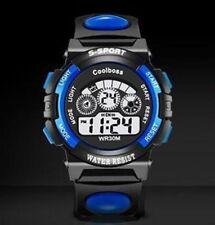Sports Digital Rubber Strap Water Resistance Quartz Wrist Watch - New