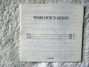 60945 Instruction Booklet - Warlock's Quest - Commodore Amiga (1988)
