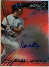 2016 Don Mattingly Topps Finest Greats Autograph Red Refractor 1/5 Yankees