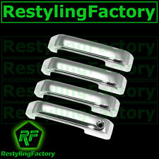 2015 15 Ford F150 Truck Triple Chrome 4 Door handle Cover W/O Smart Keyhole Kit