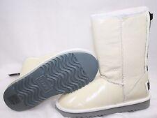 NEW Womens Size 5 AUSTRALIA LUXE Love EZ Zipper Short Patent White Boots