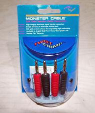 4x Monster Cable Twist Crimp 24k Gold Speaker Connectors Banana Plug MTT-R