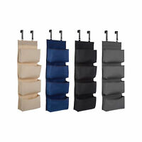 4 Tier Shoe Rack Over Door Storage Hanger Fabric Holder Bedroom Organiser Hooks