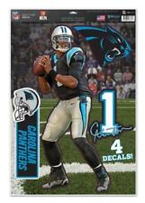 Cam Newton Carolina Panthers 4 Aufkleber Decal Badges Set NFL Football