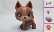 Littlest Pet Shop Dog Puppy German Shepherd Tan 867 and Free Accessory Authentic