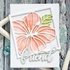 Hibiscus Flower Frame Metal Cutting Dies Scrapbooking Embossing Paper Cards DIY