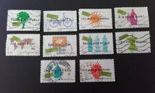 10 TIMBRES COLLECTION COMPLETE TIMBREZ DES IDEES DURABLES ENVIRONNEMENT PNUE 200