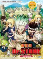 Anime DR. Stone Complete ENGLISH DUB DVD Series Box Set - EXPRESS SHIPPING