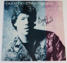"GEORGE THOROGOOD & THE DESTROYERS Signed Autograph ""Maverick"" Album Vinyl LP"