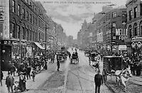 POSTCARD  MANCHESTER   Market  St  from  Royal  Exchangr