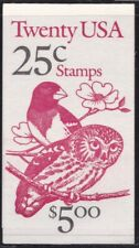 1988 United States/USA - Booklet N° 154 $5,00 Text Black and Red MNH