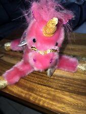 Aurora Sky Dancers Unicorn Fairy Isis 2002 Plush Toy Pink Sharon Lea Larsen