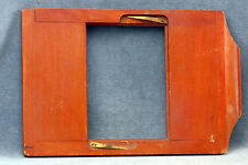 VINTAGE ELWOOD (?) 8X10 WOOD ENLARGER GLASS PLATE HOLDER - FREE USA SHIPPING