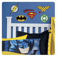 DC Superhero logotipos cáscara y palillo Wall Decals