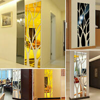 Modern Tree Mirror Removable Decal Art Mural Wall Sticker Home Room Decor US