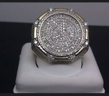 💎Hiphop IcedOut Ring Bling 💎 SALE💎 Size US Size 8 -UK SIZE - P
