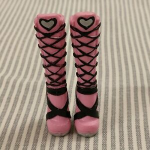Monster High Doll Accessory Draculaura First Wave Pink and Black Boots