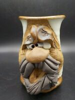 Vintage 1980 Mahon Made 12 oz Character Pottery Coffee Mug Beer Stein Mustache