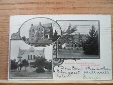 Washburn College - Topeka Kan Kansas, Bethany College ,early postcard  1906