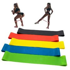Resistance Loop Bands Elastic Tension Band Fitness Yoga Stretch Belt - 5 Pieces