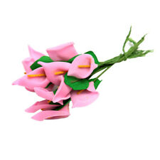 New ListingArtificial Flowers Calla Lily Bride Wedding Decoration Bouquet Latex Real Touch
