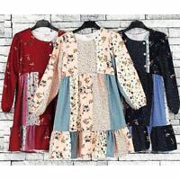 GIRLS KIDS GORGEOUS LONGSLEEVE FLEECE WINTER FASHION DRESS 3 TO 14 YEARS