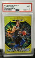 2019 Nba Hoops Luka Doncic High Voltage psa 9