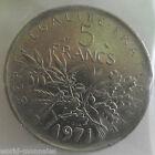 5 francs semeuse 1971 : TTB : pièce de monnaie française