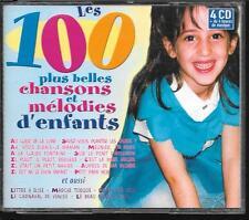 COFFRET 4 CD COMPIL 100 TITRES--PLUS BELLES CHANSONS ET MELODIES D'ENFANTS