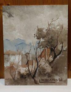 dipinto olio su cartone telato 24x30 firmato de magistris 85