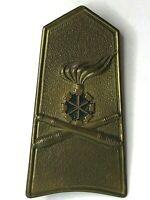WW2 Italian Army Artillery Brass shoulder Plate Badge Missing 2 lugs