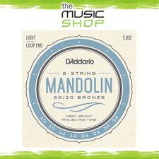 D'Addario EJ62 80/20 Bronze Wound 8 String Set Mandolin Strings 10 - 34 Gauge