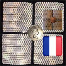 4x v Bright REFLECTIVE Safety Motorcycle Helmet Sticker Hi Viz France THINK BIKE