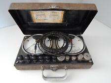 Ancien coffret ampèremètre et voltmètre CHAUVIN ARNOUX 190 Rue CHAMPIONNET PARIS
