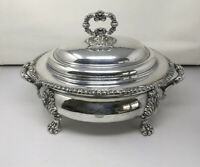 Antique Circa 1820 OLD SHEFFIELD England Silver Soup Tureen W/ Lid Cover